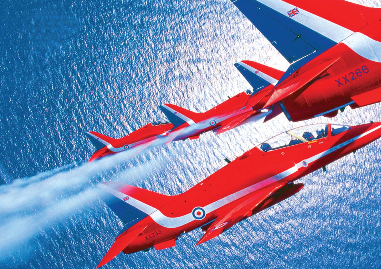 Red Arrows 3 A3 Poster Print Picture A855
