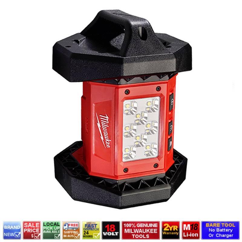 milwaukee m18al 0 m18 18v cordless 8 led area light worklight torch lamp 2361. Black Bedroom Furniture Sets. Home Design Ideas