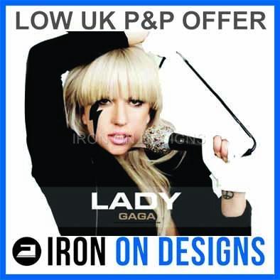 Iron On T shirt Concert Transfer Lady Gaga   7 Designs