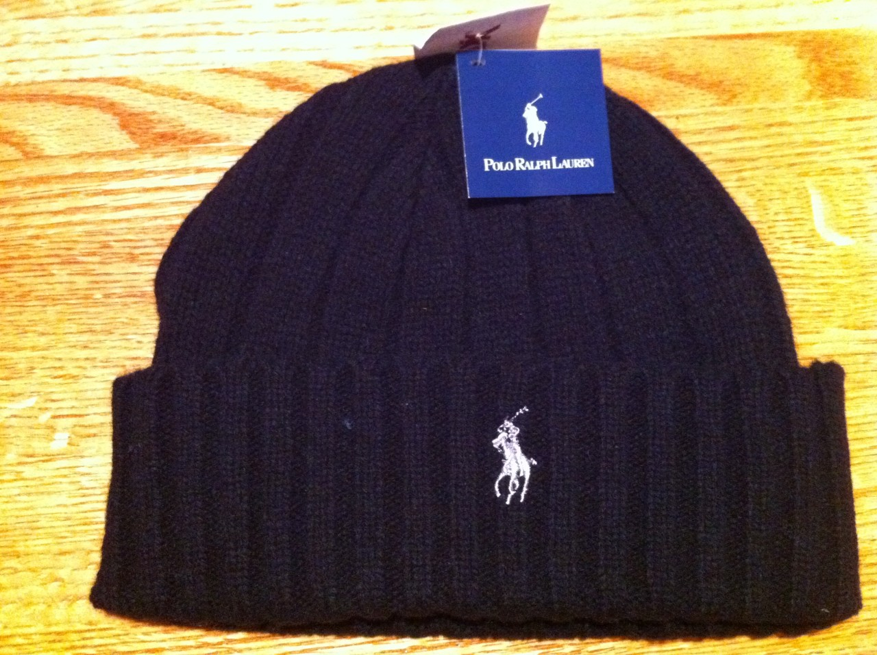 Ralph Lauren Polo Winter Beanie Ski Hat-NWT BLACK