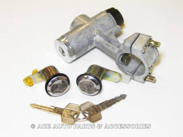 New-Ignition-Lock-Switch-With-2-Door-Locks-For-Datsun-1000-1200-67-TO-83