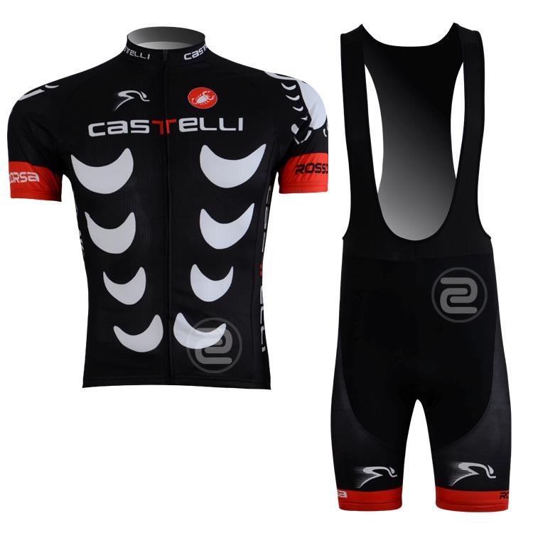 Fashion Men Road Bike Sports Race Suits Cycling Jersey Shirt Bib Shorts Kits Set