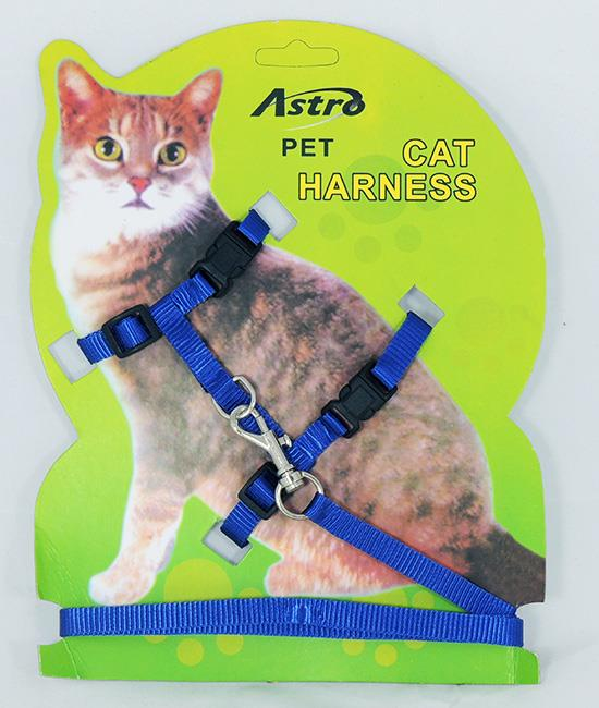 how to put on adjustable cat harness