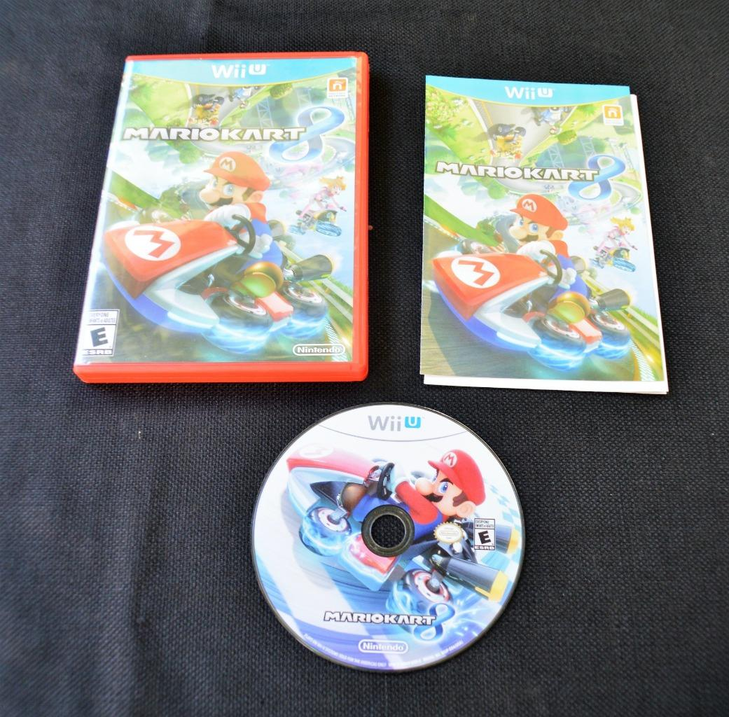 Image is loading Mario-Kart-8-Nintendo-Wii-U-game-complete-