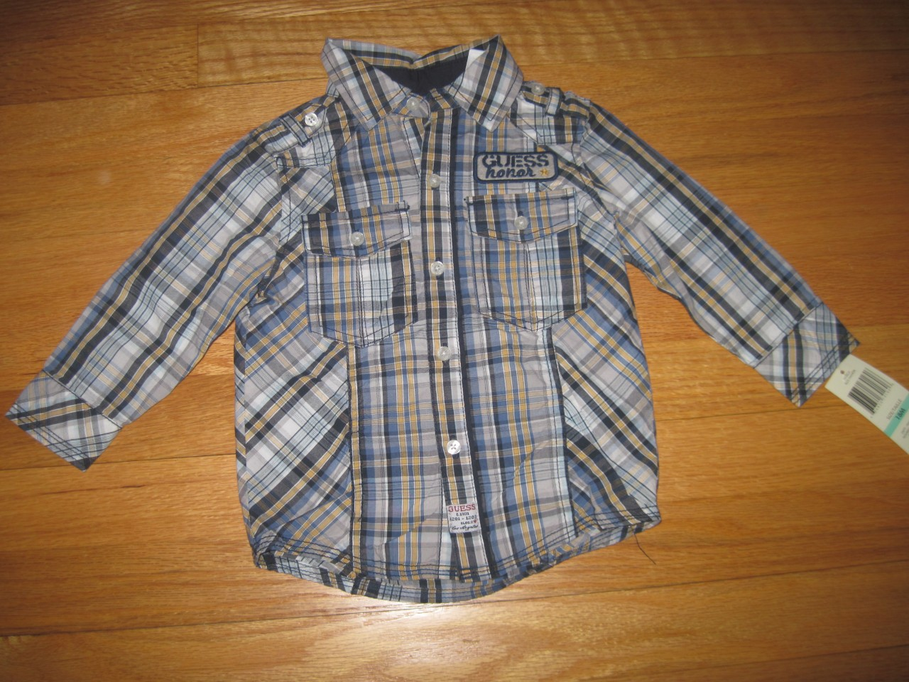 AUTHENTIC-GUESS-LONG-SLEEVE-BUTTON-DOWN-SHIRT-BABY-BOYS-SIZE-12-MONTHS-NWT