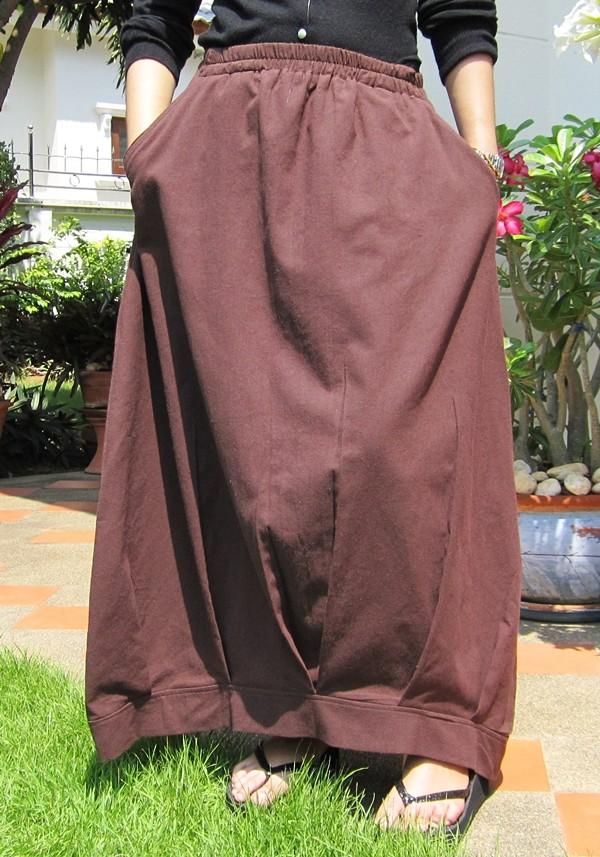 vintage bohemian funky cotton maxi free size skirt
