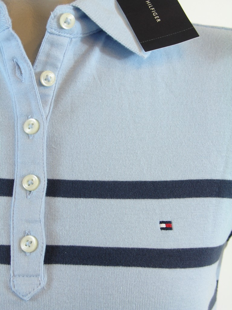New nwt tommy hilfiger womens striped polo shirt ebay for Tommy hilfiger fitzgerald striped shirt