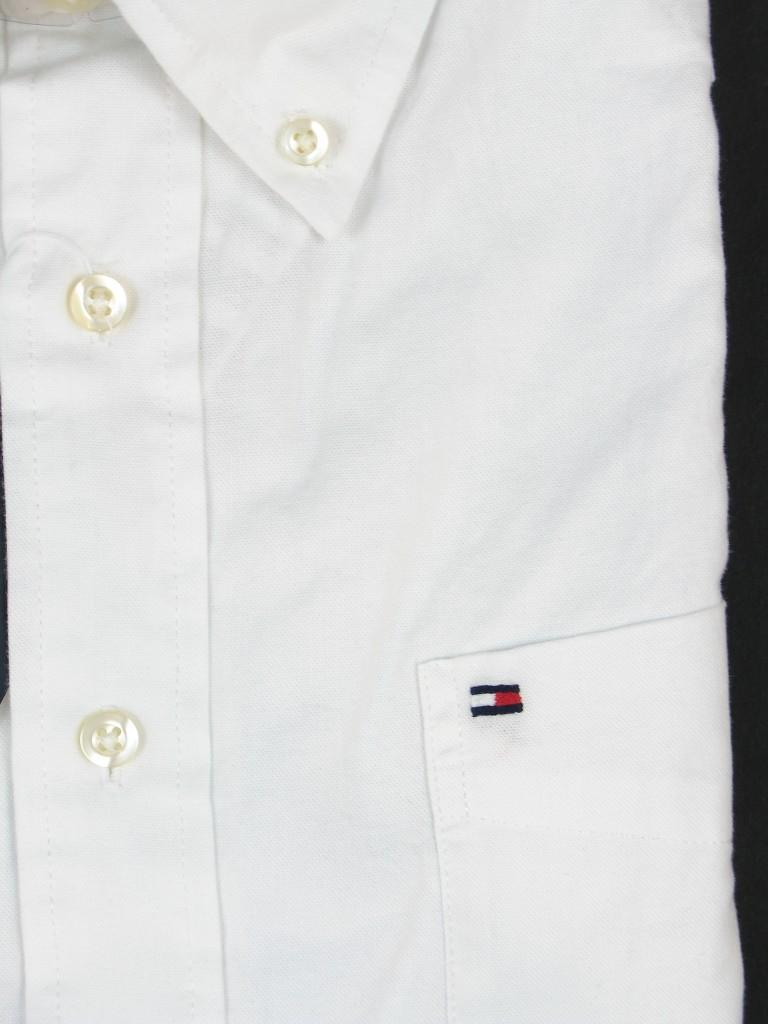 New Tommy Hilfiger Mens Short Sleeve Button Down Dress Shirt