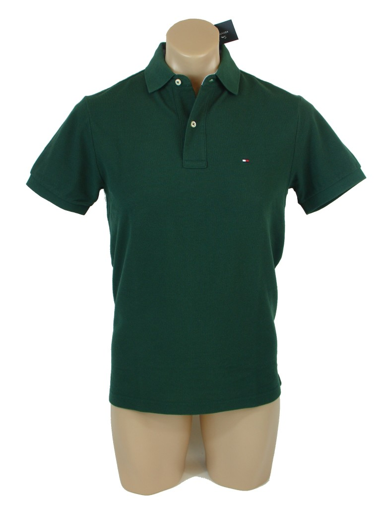 New nwt tommy hilfiger mens classic fit solid color short for Tommy hilfiger vintage fit shirt