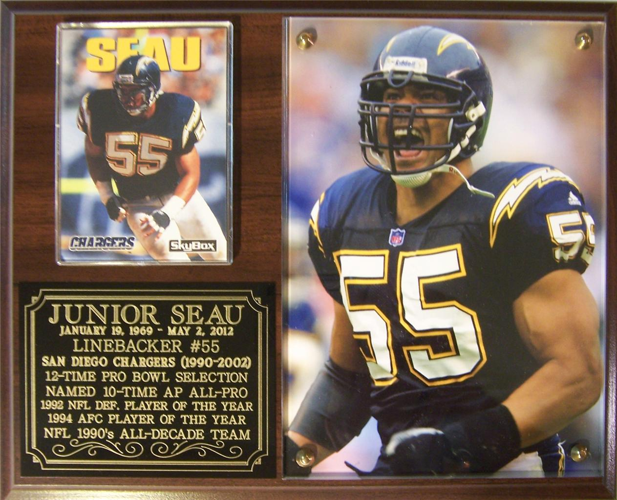 Junior Seau 55 San Diego Chargers Nfl Legend Photo Card