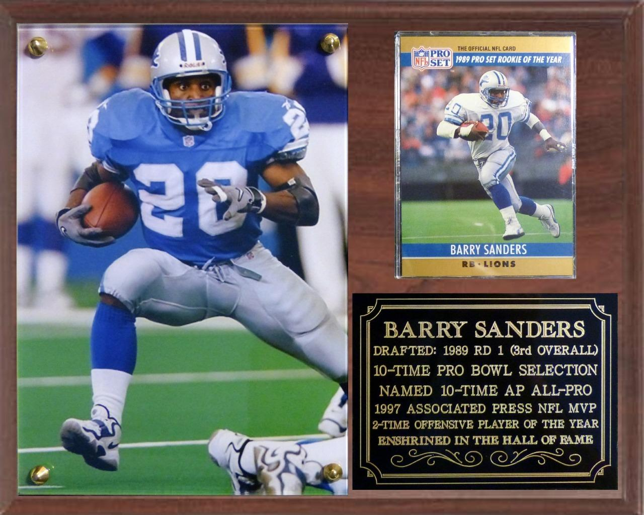 Barry Sanders 20 Detroit Lions Legend NFL MVP