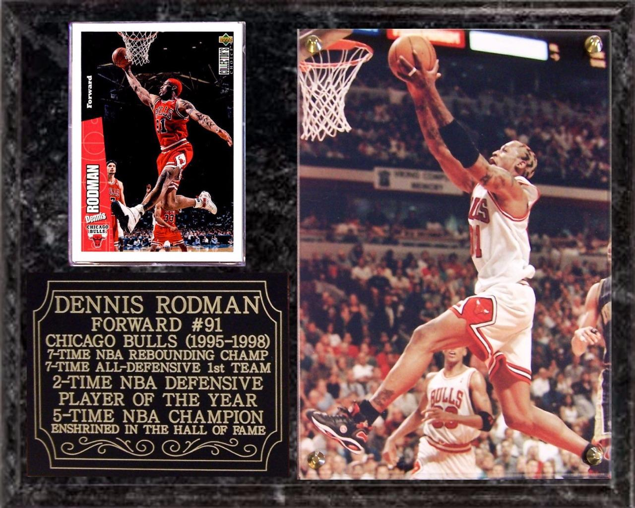 Dennis Rodman #91 Chicago Bulls 5-Time NBA Champion Hall ...