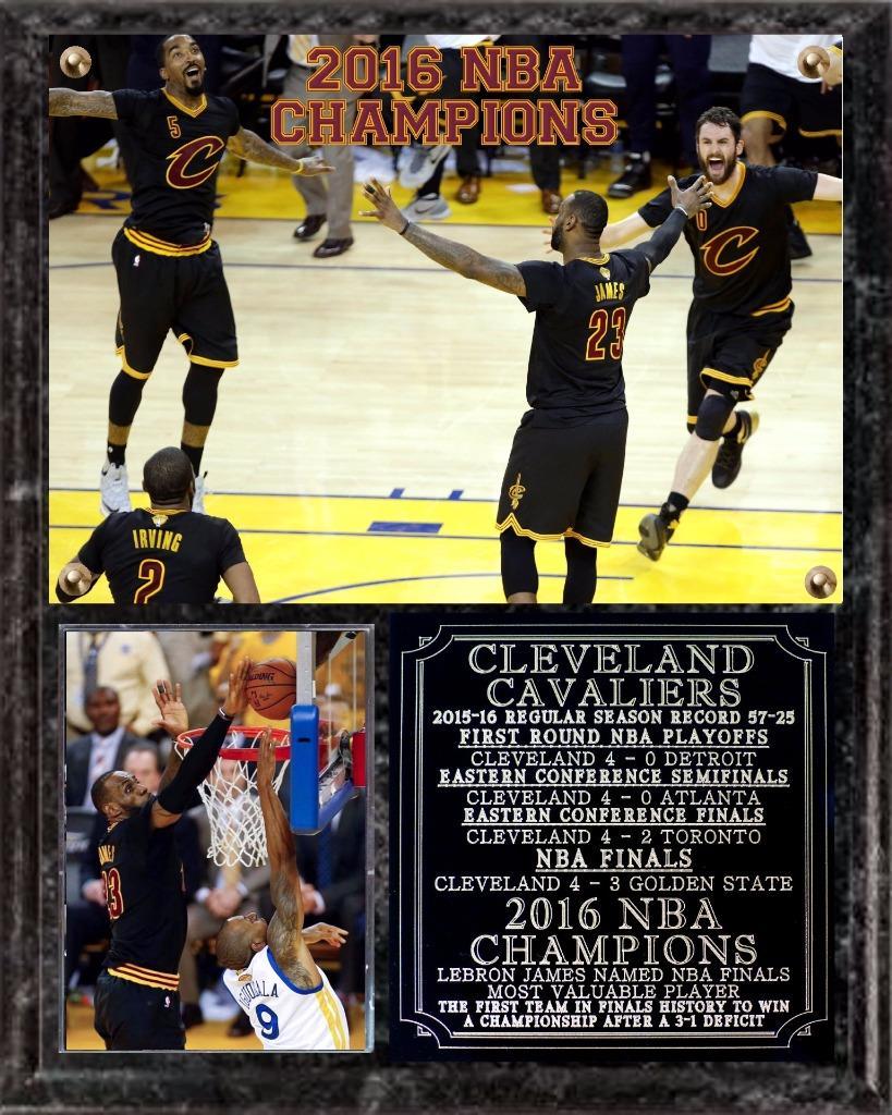 Cleveland Cavaliers 2016 NBA Champions Photo Plaque LeBron James MVP   eBay