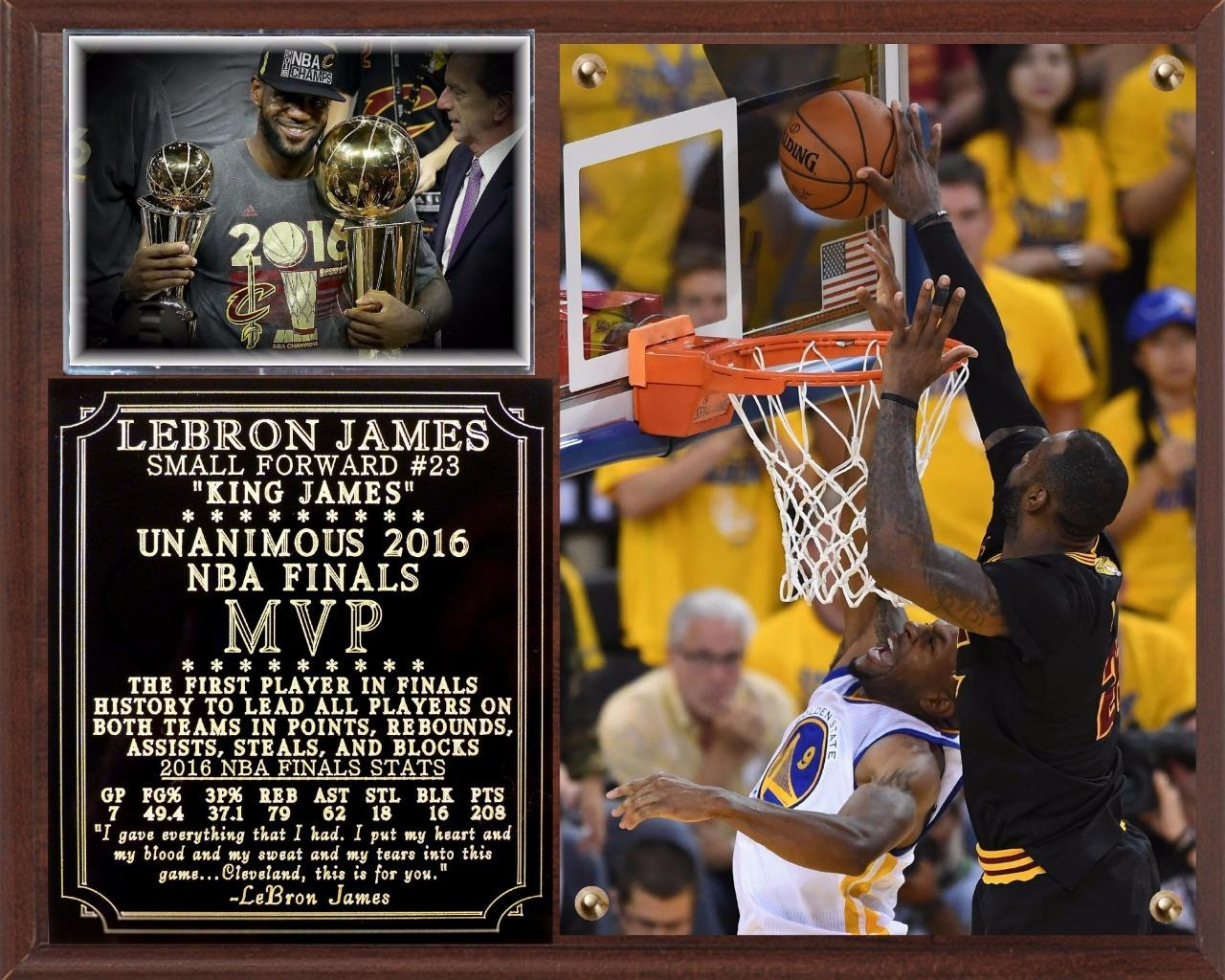 LeBron James 2016 NBA Finals MVP Photo Plaque Cleveland Cavaliers | eBay