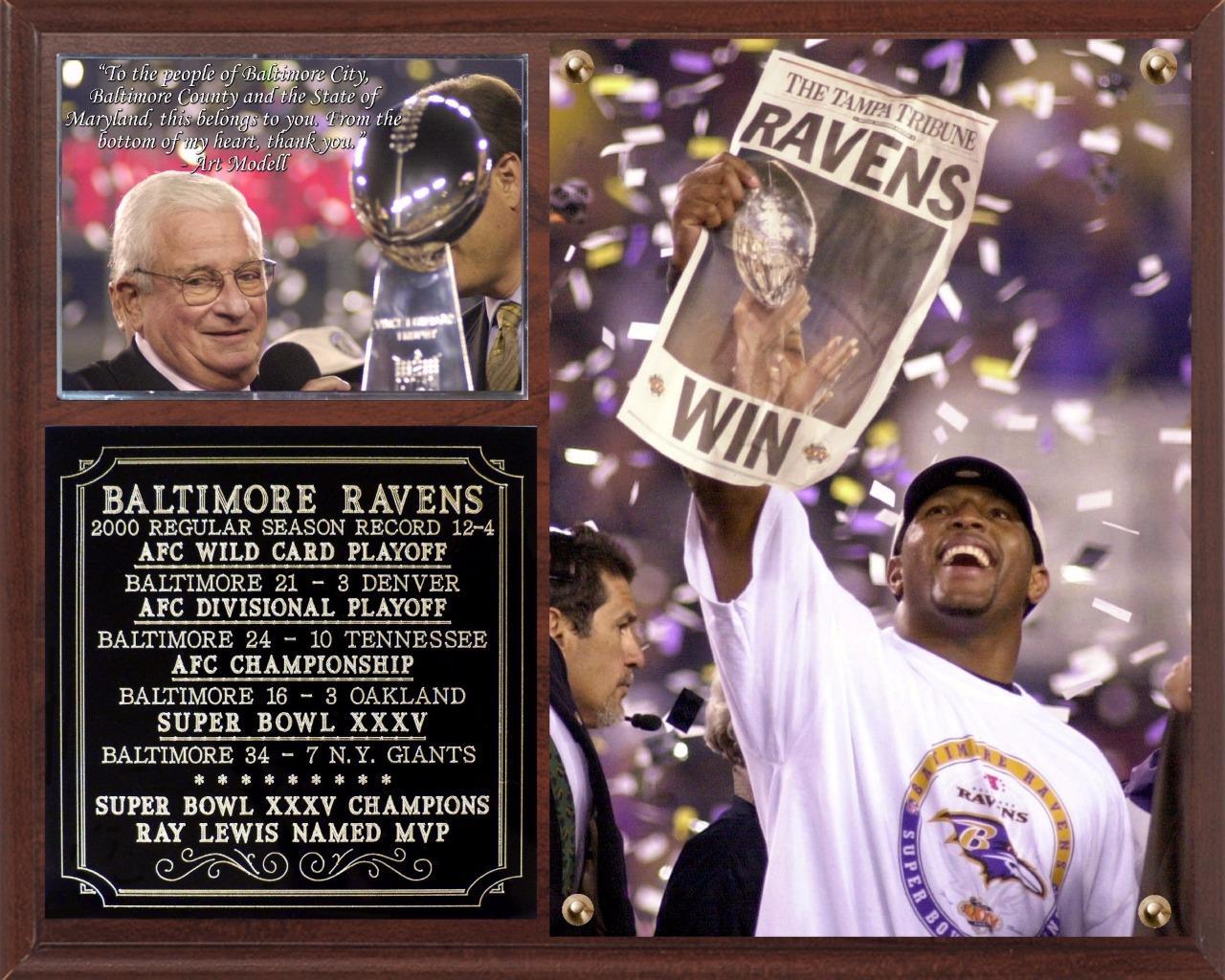 Baltimore Ravens Super Bowl XXXV Champions NFL Photo