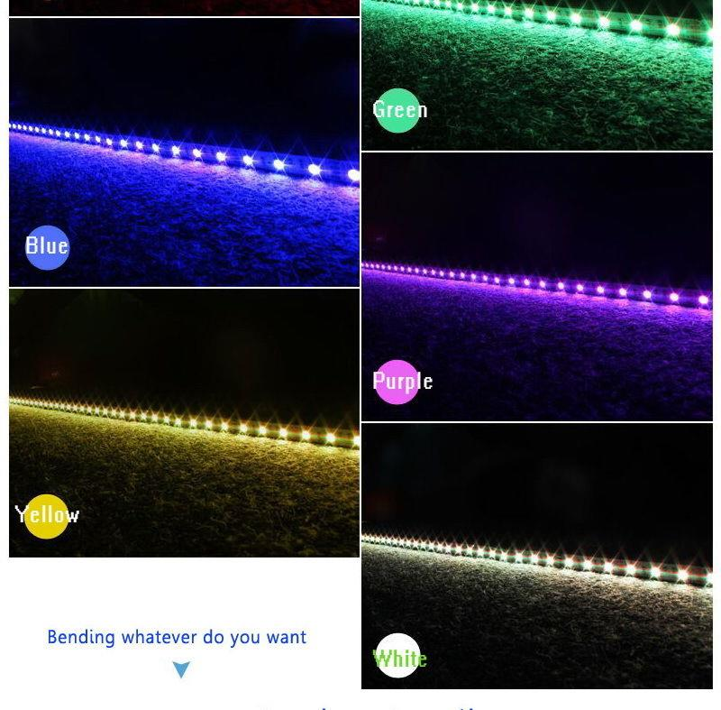 Multiple lights with a barrier strip