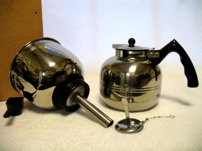 Vacuum Coffee Maker Metal : Vintage Cory Stainless Steel Vacuum Coffee Pot Brewer New In Box eBay