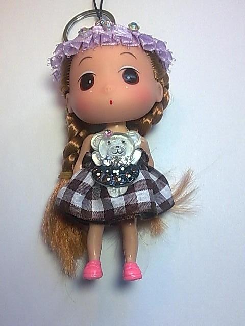 Big Head Doll with key holder & phone strap -4.5 inch A8