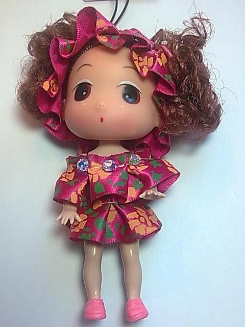 Big Head Doll with key holder & phone strap -4.5 inch A7