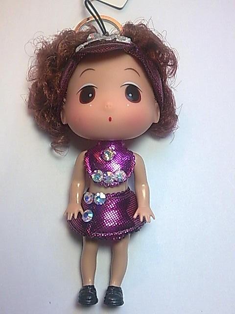 Big Head Doll with key holder & phone strap -4.5 inch A6