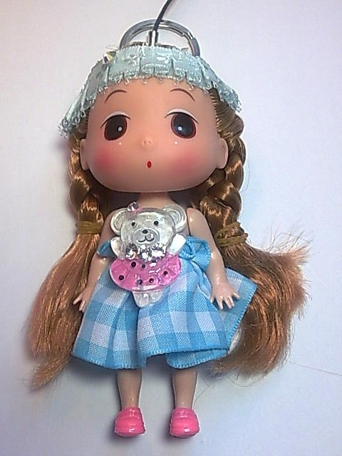 Big Head Doll with key holder & phone strap -4.5 inch A4