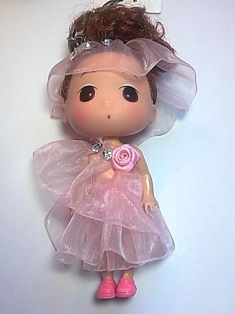 Big Head Doll with key holder & phone strap -4.5 inch A3