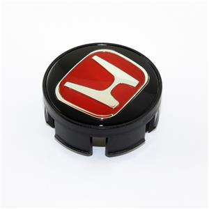 for honda civic fit set of 4 jdm red h wheel center caps. Black Bedroom Furniture Sets. Home Design Ideas
