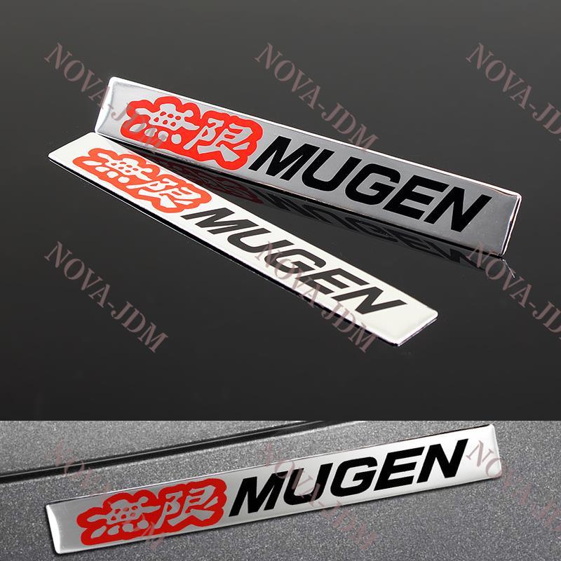 Acura Red Emblem: 2PCS Car Body Trunk Emblem Badge Sticker Decal MUGEN For