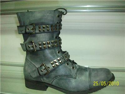 Military Boots Fashion  Women on Designer Inspired Ladies Fashion Military Anckle Boots   Ebay