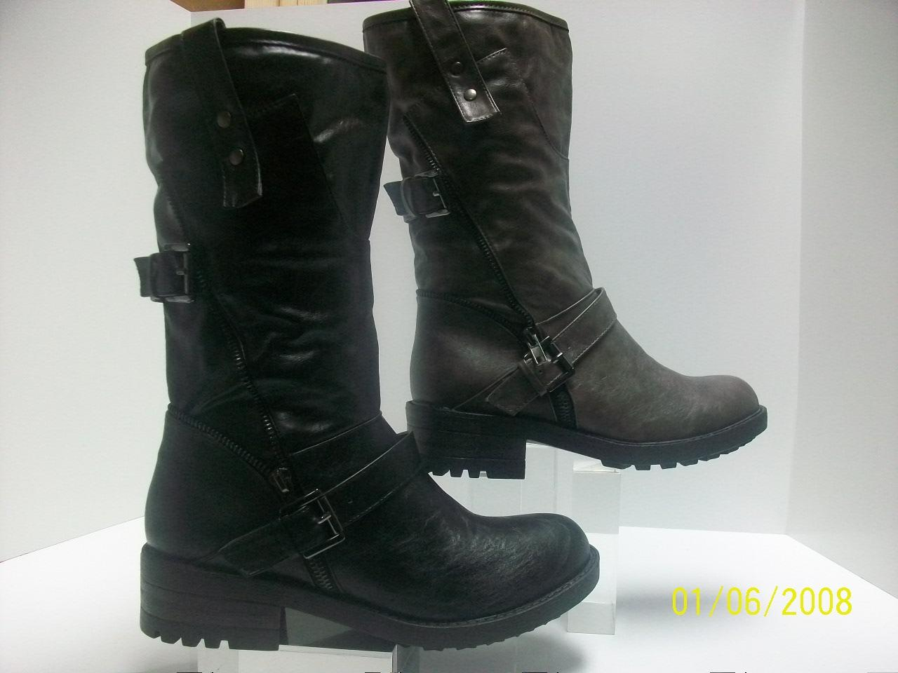 black or grey biker boots womens boots size uk