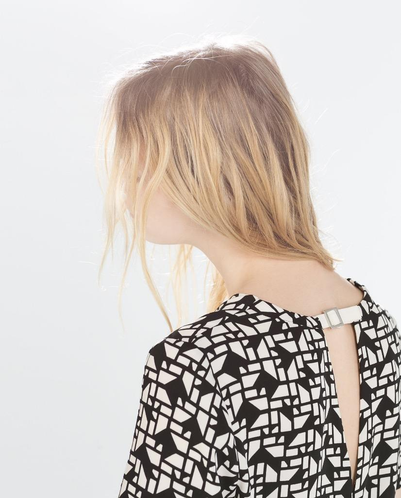 Zara Printed Blouse Ebay 37