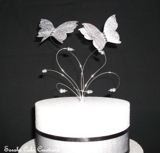 Silver Butterfly Wedding Cake Topper Decoration eBay