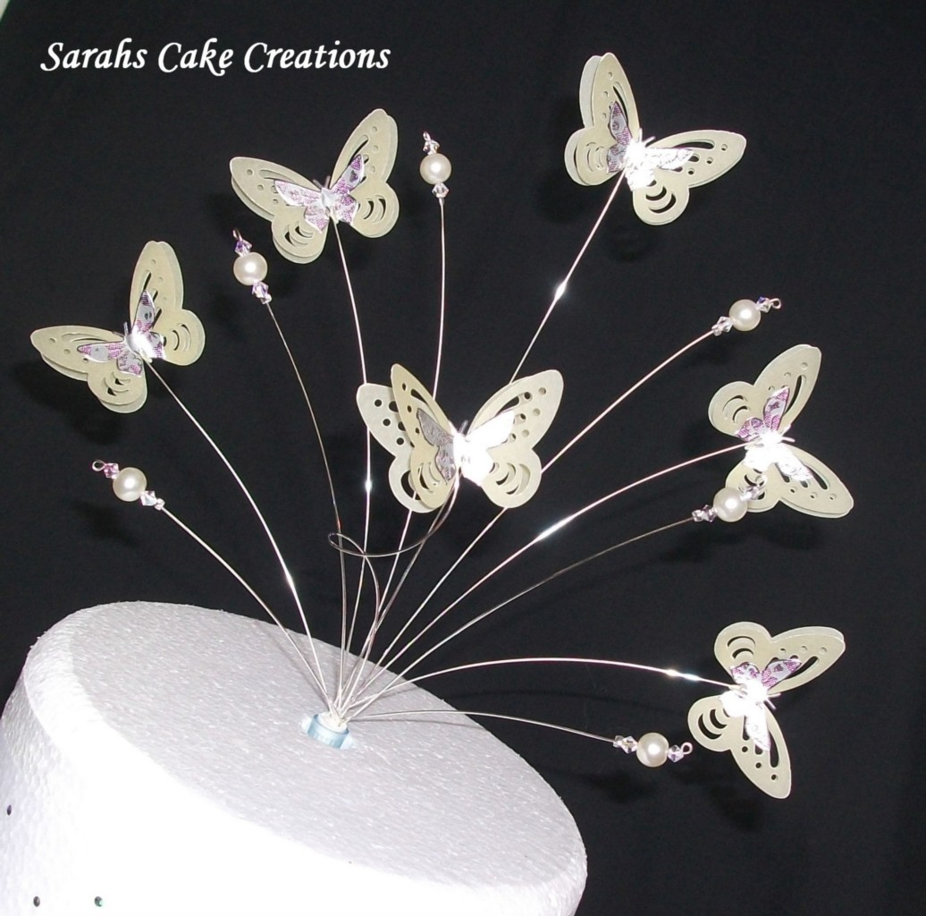 Butterfly Cake Decoration Uk : Butterfly Cake Topper Wedding Birthday Decoration