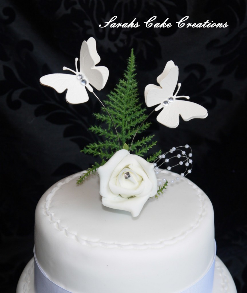 butterfly wedding cake toppers