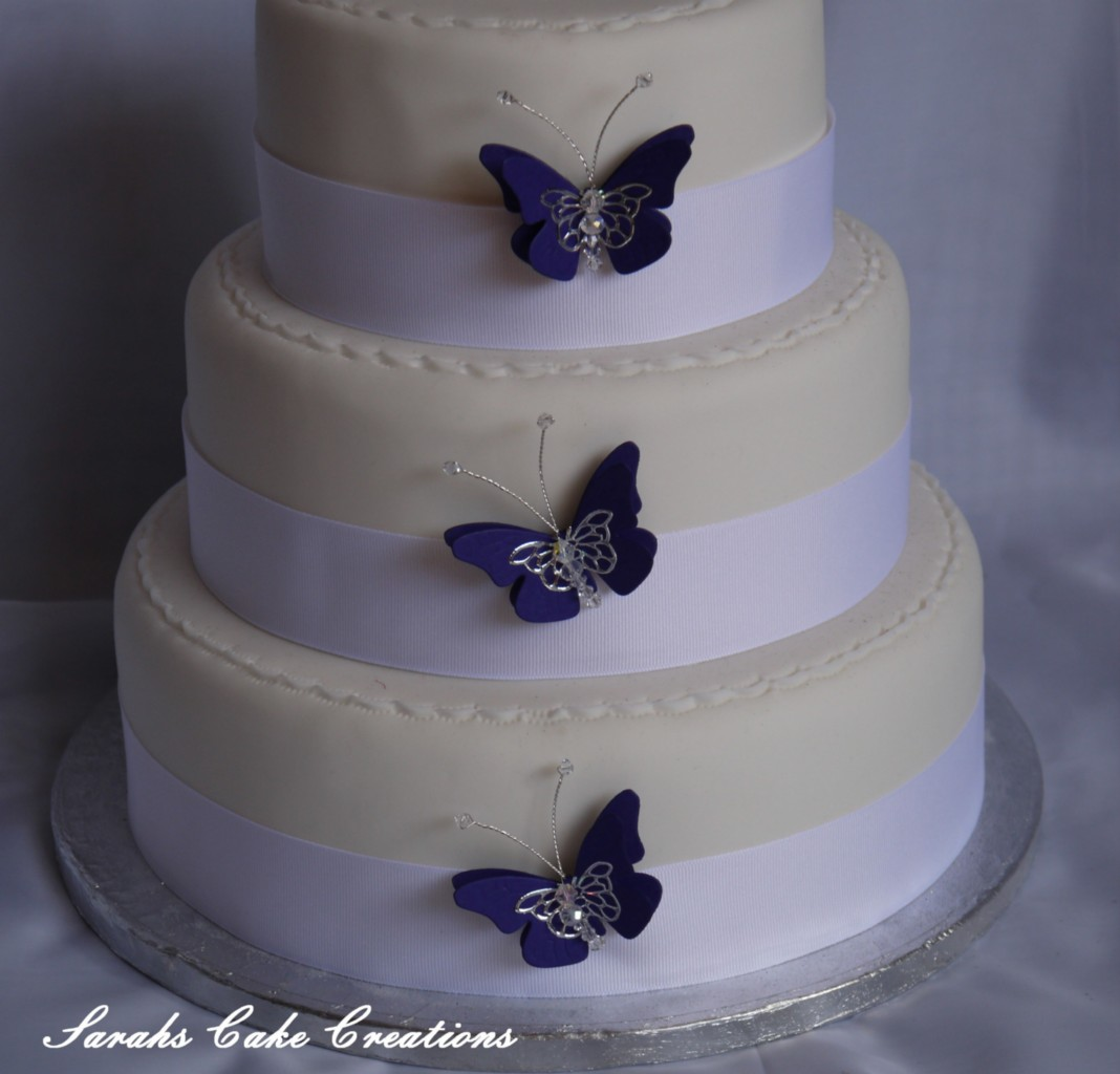 Set of 3 Butterfly Cake Decorations - Wedding Birthday ...