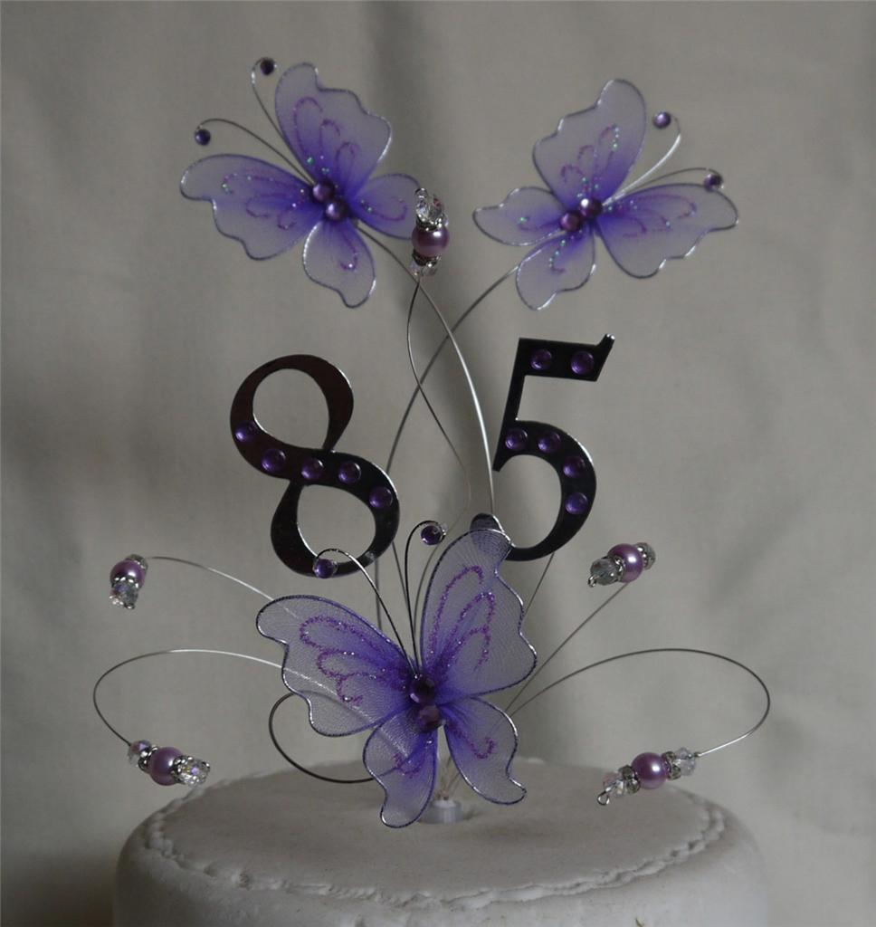 Butterfly Cake Topper Wedding Birthday Anniversary Ebay