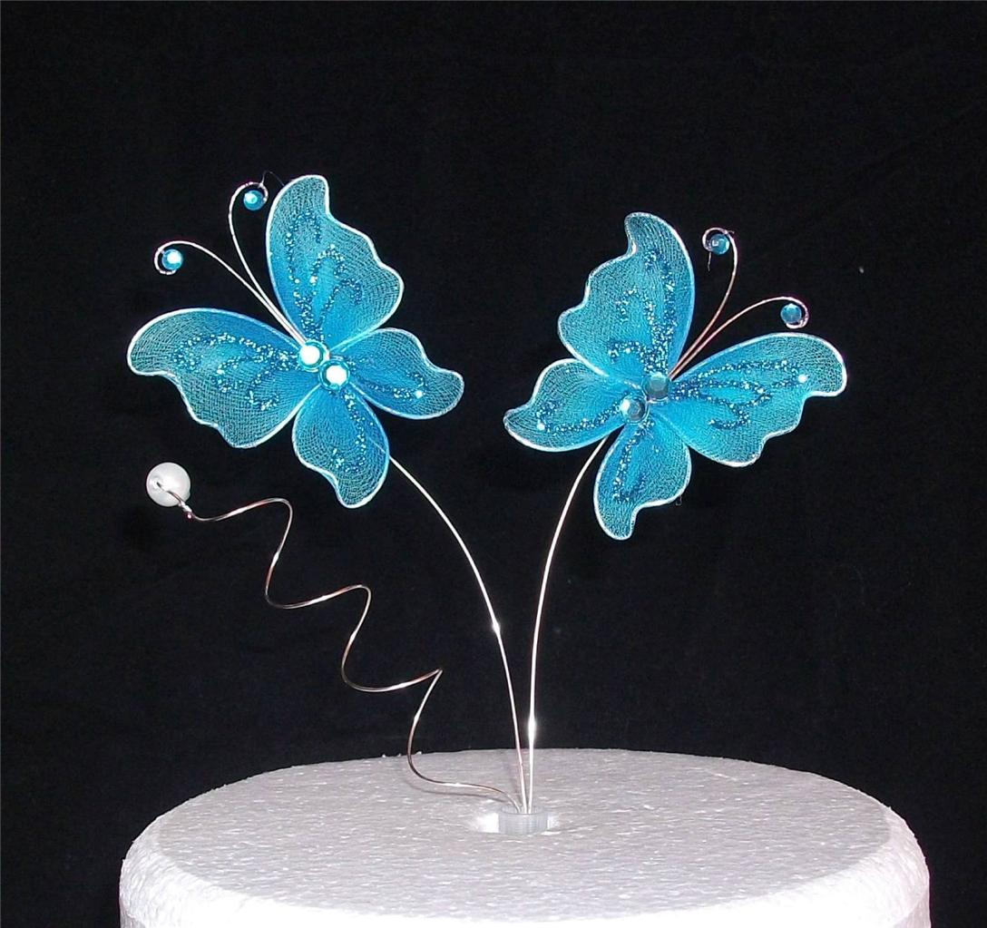 Butterfly Cake Decoration Uk : Butterfly Cake Topper- Wedding Birthday Anniversary Decoration