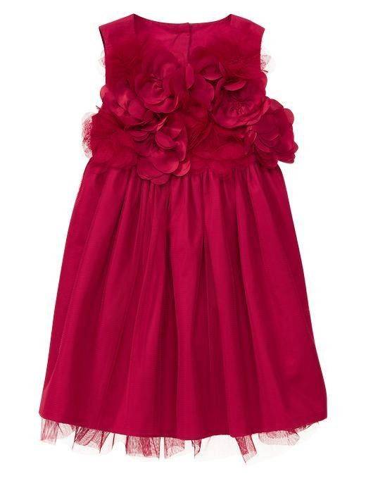 New 2012 Girls Baby Gap Red Tulle Holiday Christmas Dressy