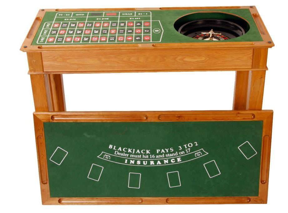 4 in 1 wooden casino bar game table roulette craps for 10 games in 1 table