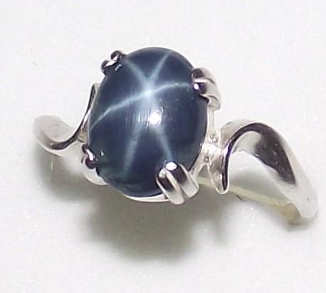 darling natural and genuine blue star sapphire ring no. Black Bedroom Furniture Sets. Home Design Ideas