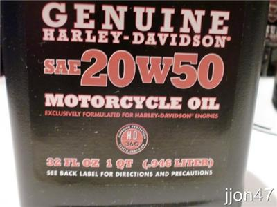 Lot 5 Genuine Harley Davidson Sae 20w50 Motorcycle Motor
