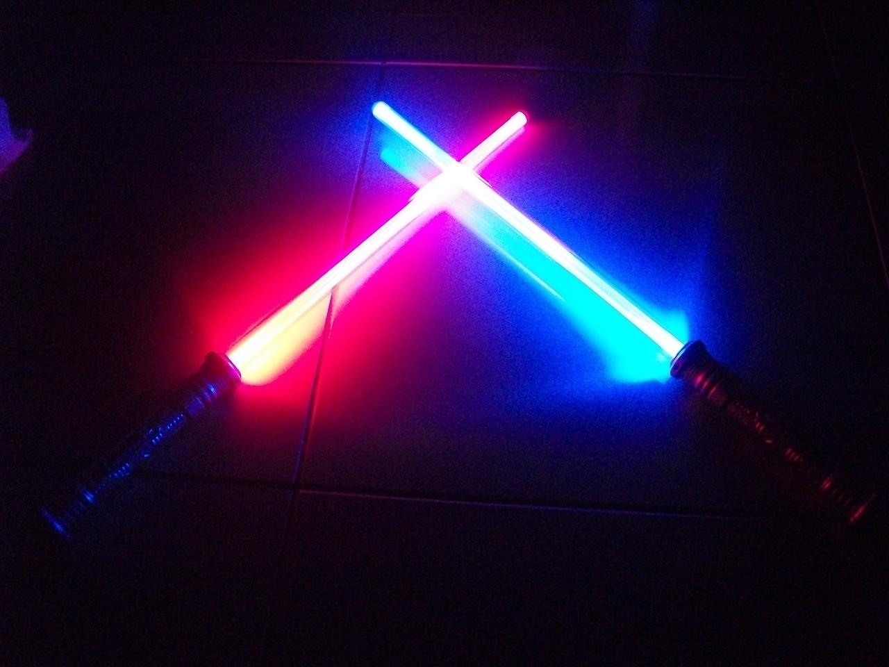 lot 2 led fx lightsaber light saber sword star wars. Black Bedroom Furniture Sets. Home Design Ideas