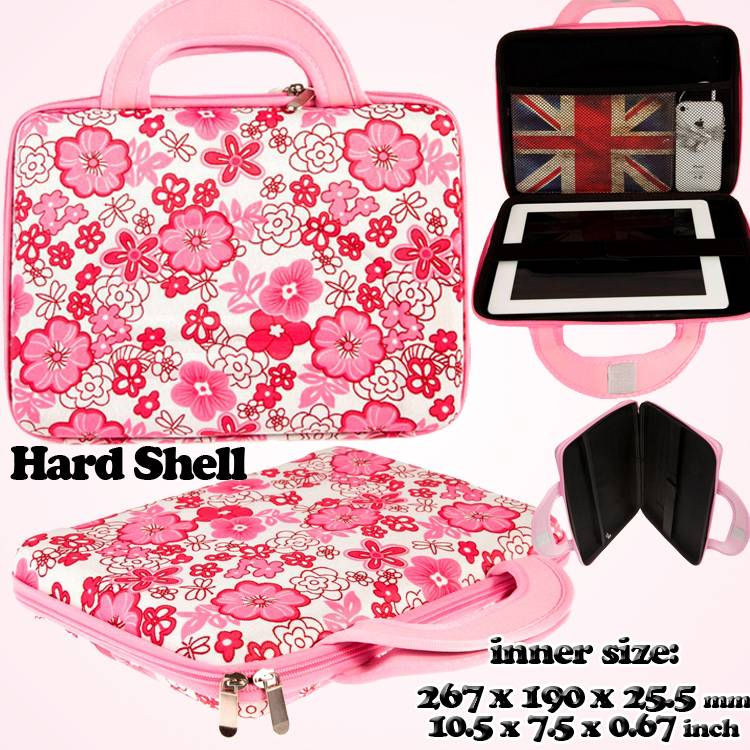 SHOCKPROOF-UNIVERSAL-9-034-TO10-1-034-FLOWER-HARD-SHELL-TABLET-CARRYING-BAG-COVER-CASE