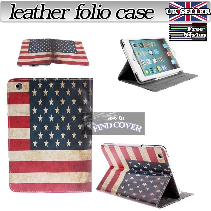 Folio Flip Stand Leather Case Cover for iPad 2 iPad 3 iPad 4 /Air 5/Mini 1 2 3