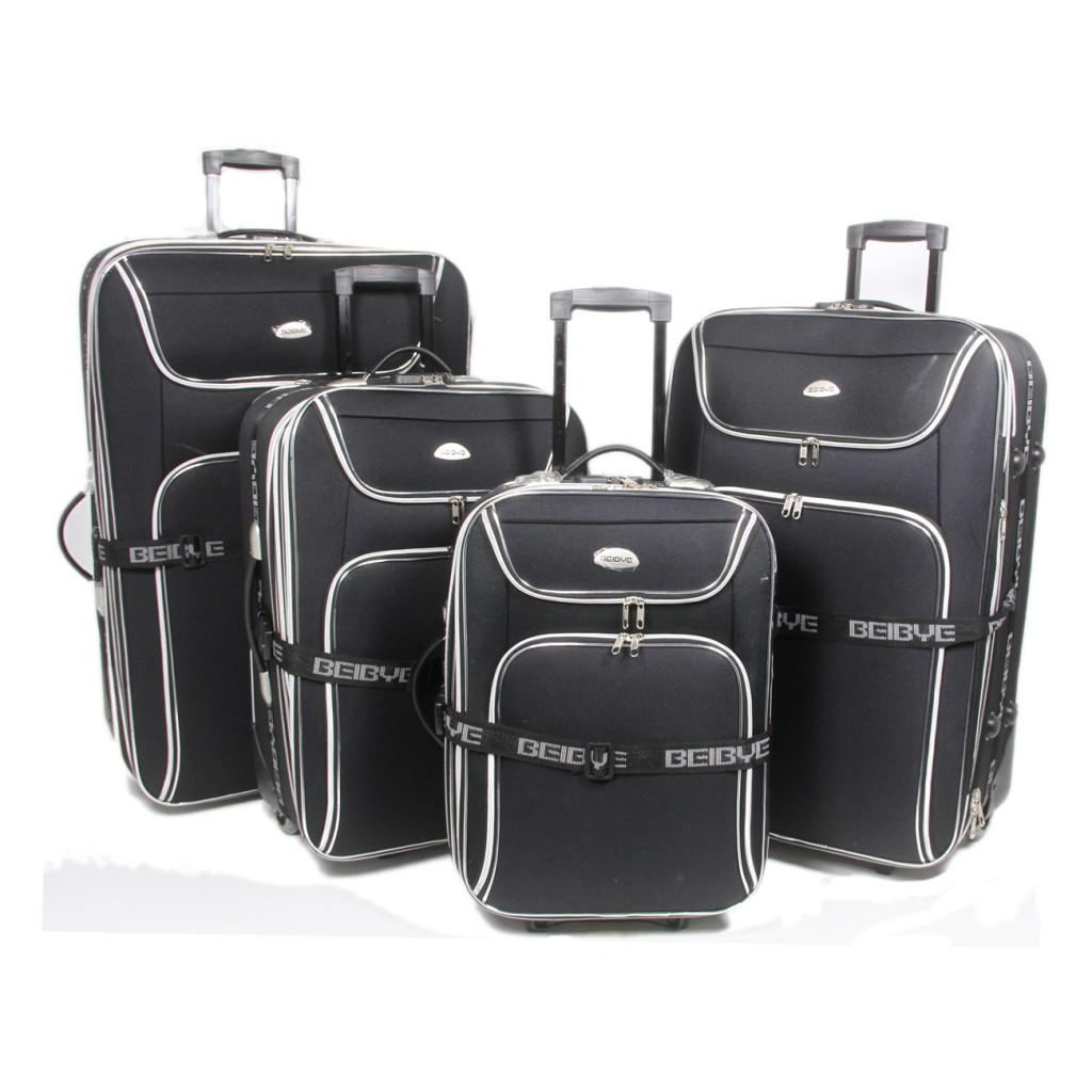 4 tlg reisekoffer set trolley koffer kofferset 8006 in 4 farben ebay. Black Bedroom Furniture Sets. Home Design Ideas