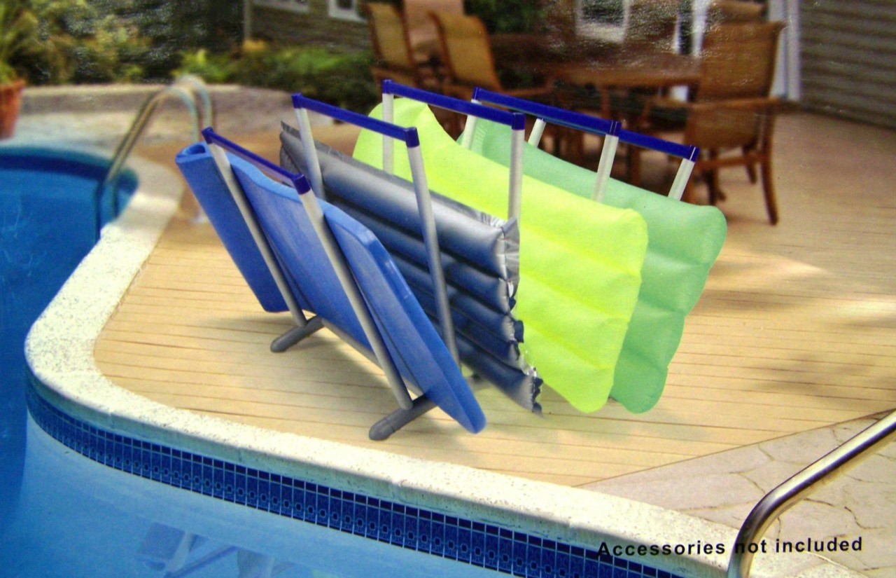 Details about new outdoor pool caddy deck raft float lounge organizer