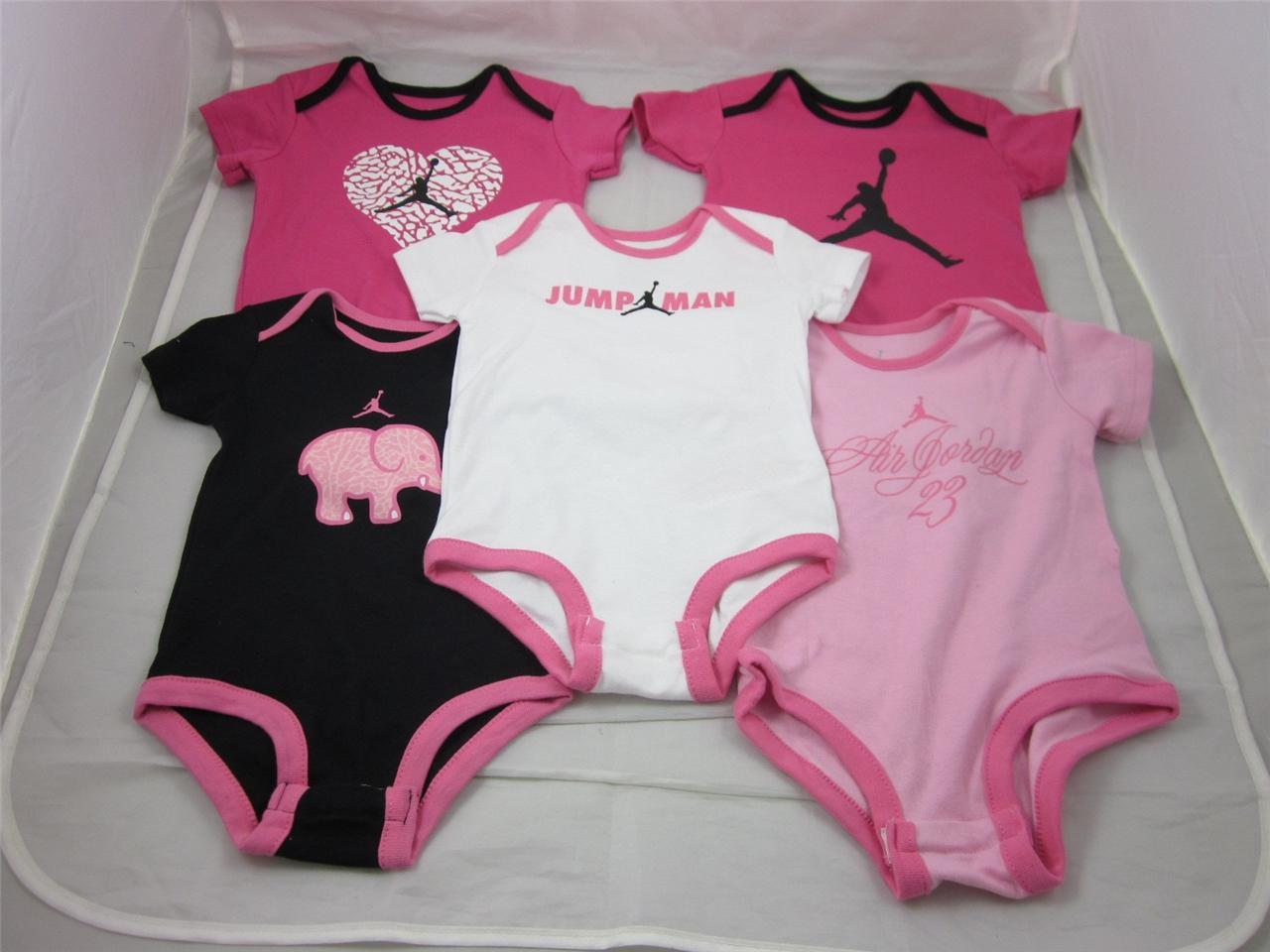 Nike Air Jordan Infant Baby Girl Pack Bodysuits Clothes