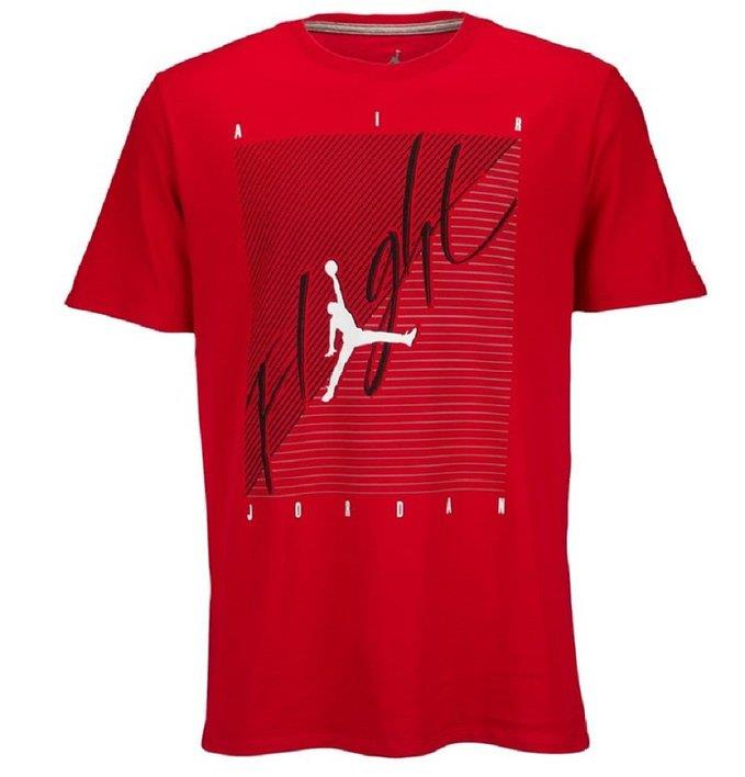 Big selection boys youth nike air jordan t shirt tee red for Black white red t shirt