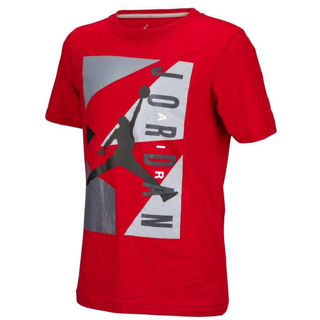 big selection boys youth nike air jordan t shirt tee red. Black Bedroom Furniture Sets. Home Design Ideas