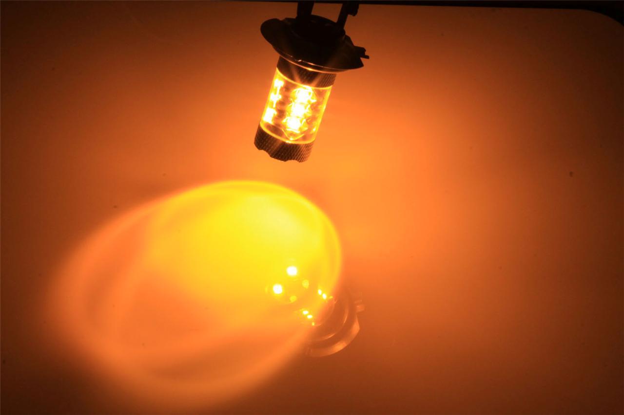 2x 80w H11 Amber Normal High Power Led Car Fog Daytime Running Light Bulb Yellow Ebay